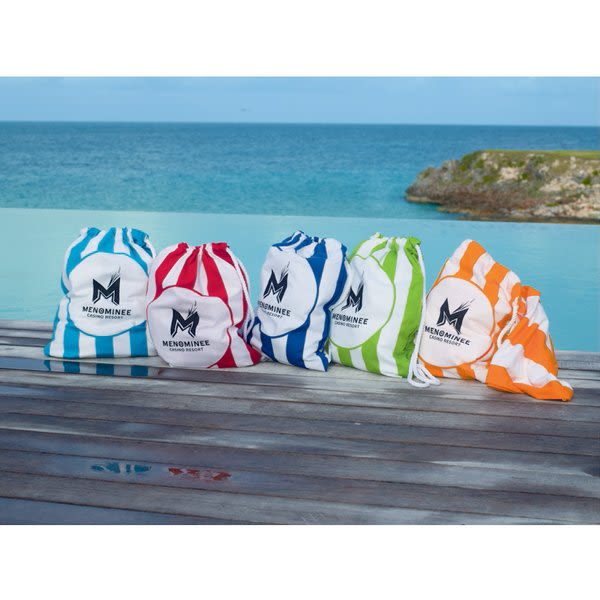 Beach Blanket No Sand: Promotional Beach Blanket Tote With Sand Stakes