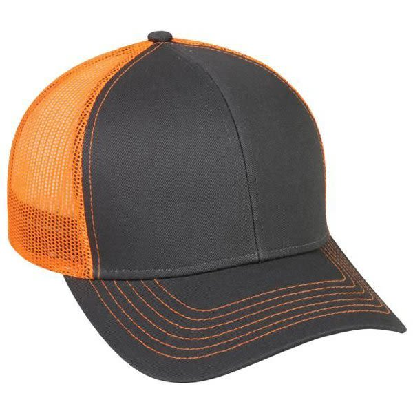 ba0329110a7f8 Structured Mesh Back Cap with Plastic Snap Closure