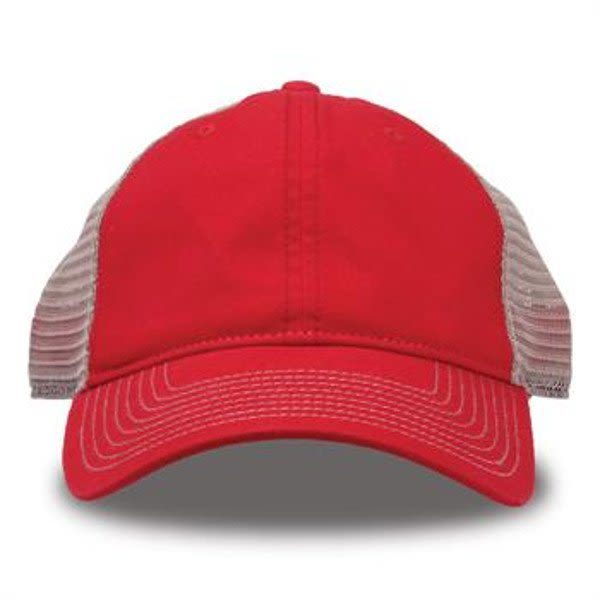 Custom Logo Super Soft Mesh Trucker Cap - Red 02f5ddee693