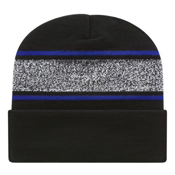 7343bf9dab3c4 Embroidered Logo USA Made Beanie with Cuff