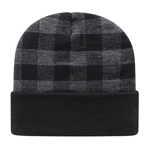 Plaid Custom Embroidered Knit Cap  7f84eb4196f