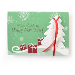 Holiday Cards With Seed Paper Personalized Imprint