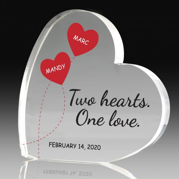 Anniversary Gift Two Hearts One Love