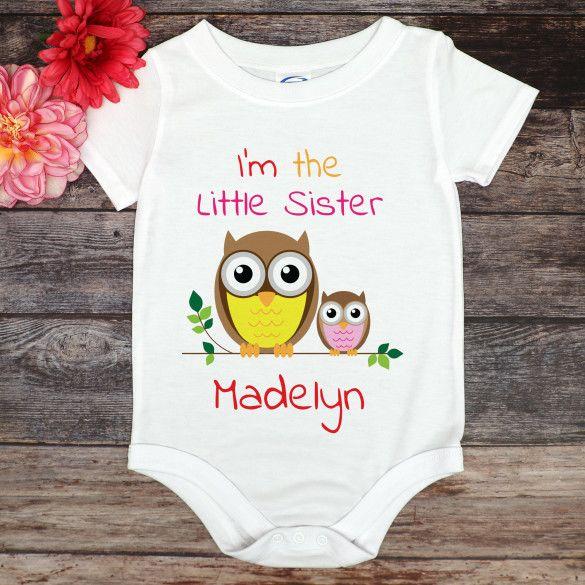 Baby bodysuit Onesies\u00ae Baby Clothes Baby ONESIES\u00ae Custom Onesie Baby shower gift Little sister ONESIE\u00ae Newborn Baby gift