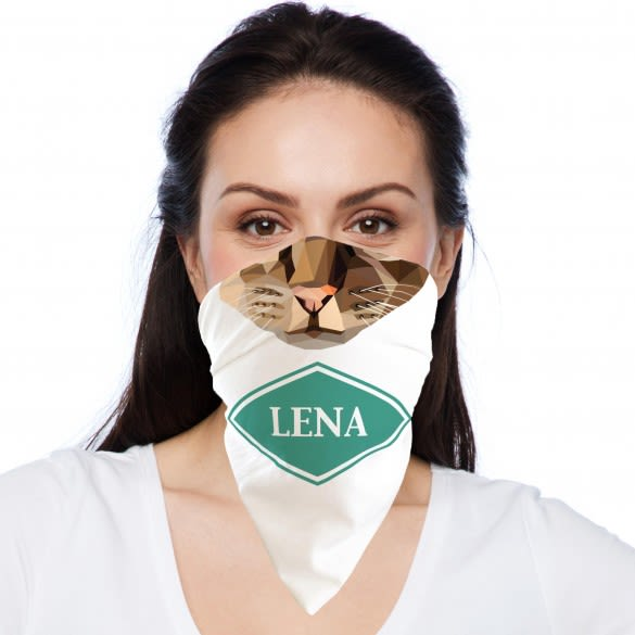 Cat Face Personalized Bandanna Face Cover
