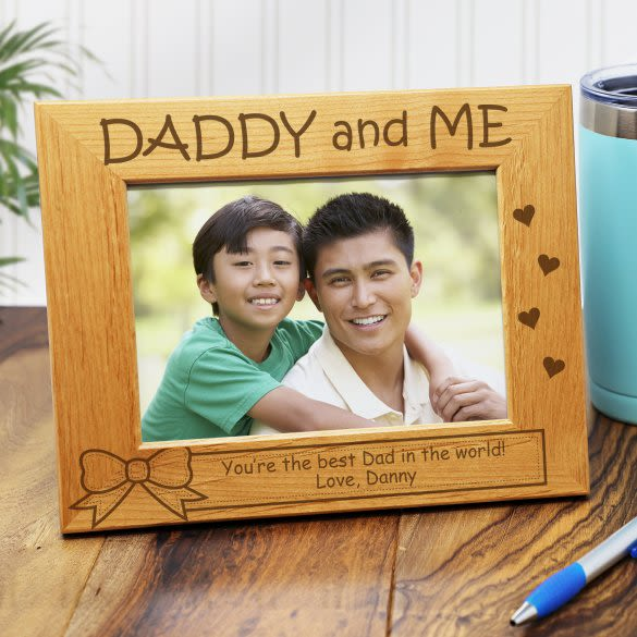 Daddy Me Personalized Picture Frame 5 X 7 Forallgifts