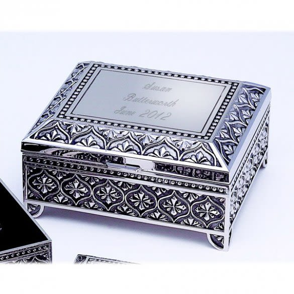 Vintage Style Engraved Jewelry Box