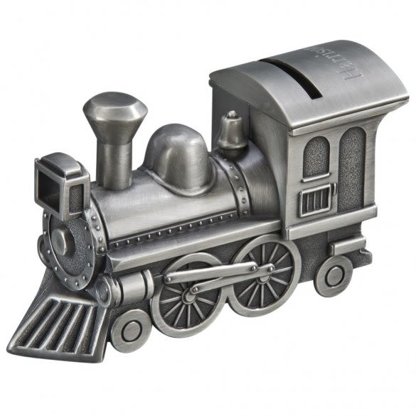 Personalized Train Bank For Kids