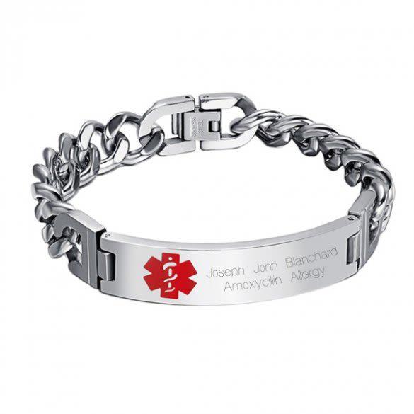 Medical Alert Bracelet >> Diabetic Medical Alert Bracelets Engraved Medical Alert Id