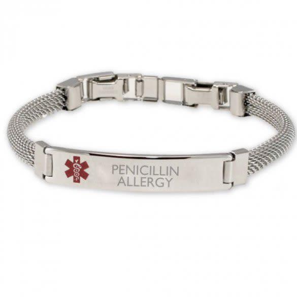 Medical Alert Bracelet >> Steel Mesh Medical Id Bracelets Women S Mesh Band Medical Bracelet
