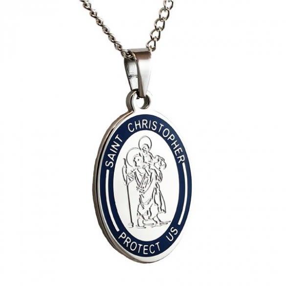 311913e59faff Engravable St. Christopher Medal Pendant