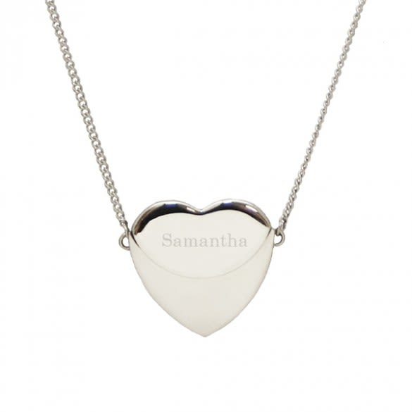 b0485a042 Personalized Secret Message Heart Envelope Locket Necklace. Petite  Personalized ...