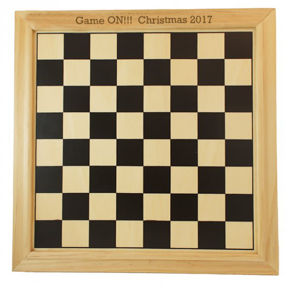 Custom Carved Message Handmade in Europe Black Draughts and Backgammon Set Foldable and Multifunctional Game Board 38x38 cm Personalised 3-in-1 Chess
