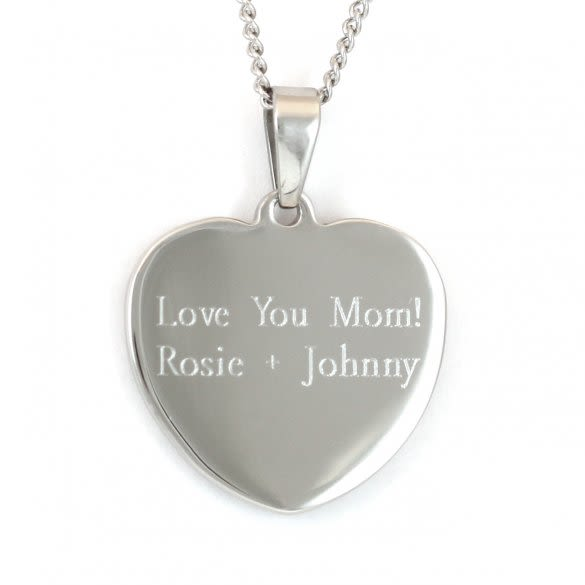 Engraved Love You More Heart Pendant | Valentine's Day ...