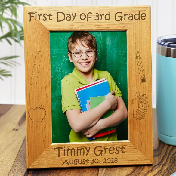 1st Day Of School Personalized Picture Frame 5 X 7
