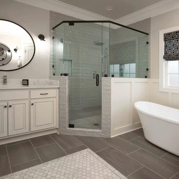 Beautiful bathroom inspiration in Columbia, TN from Inspired Flooring & Design