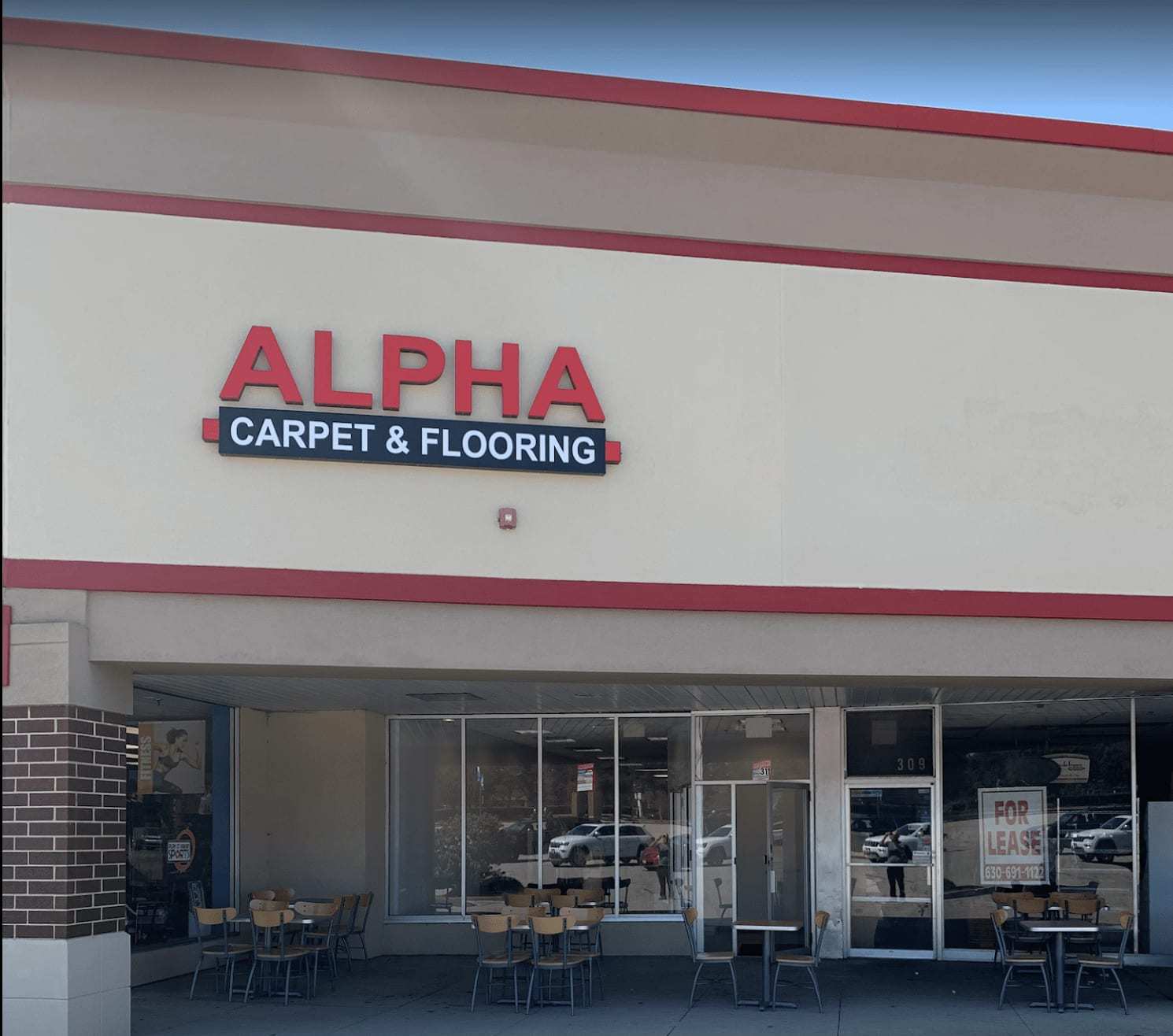 The Alpha Carpet & Flooring storefront in Palatine, IL