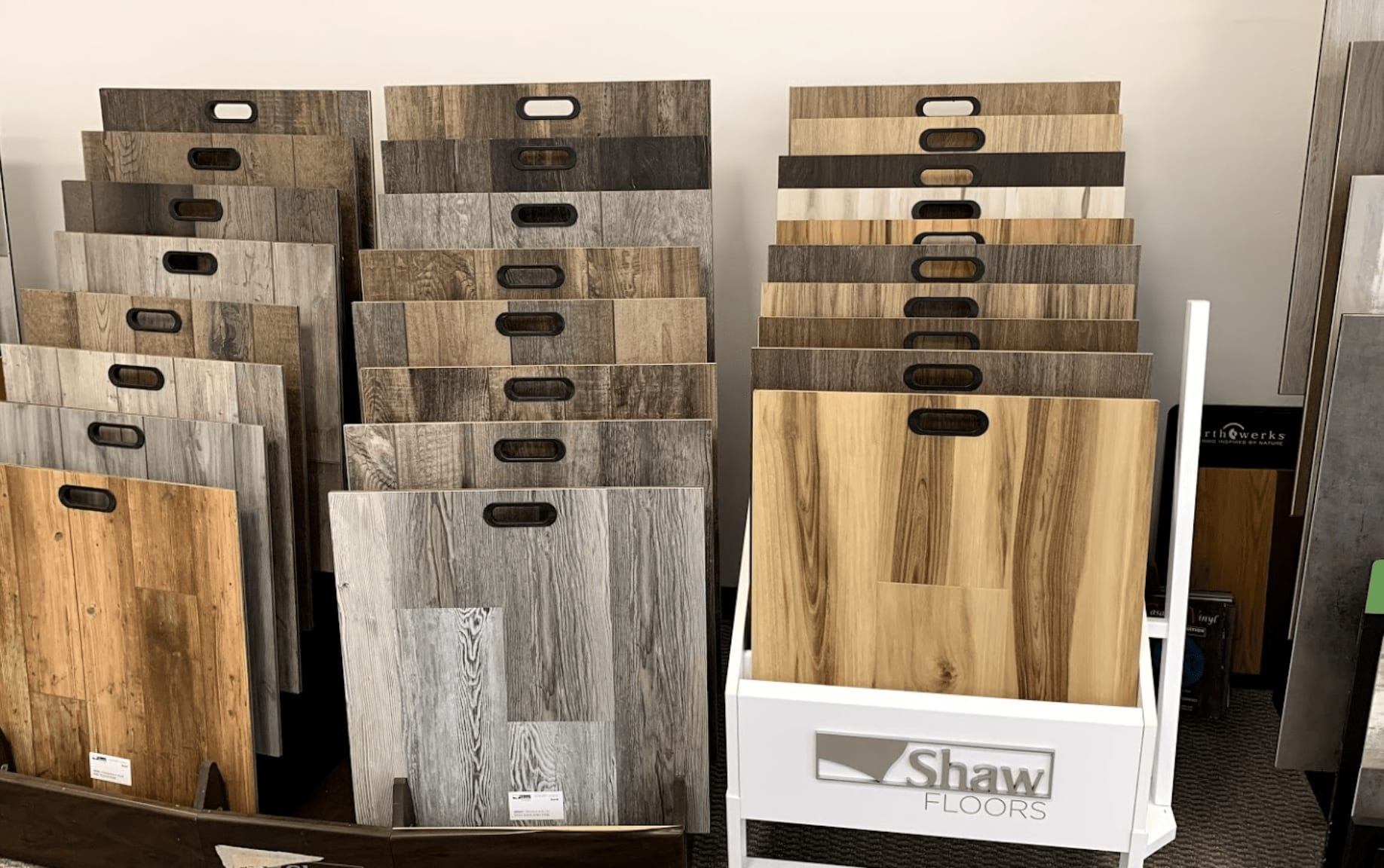 Modern hard surfacing from Shaw for your Schaumburg, IL home at Alpha Carpet & Flooring