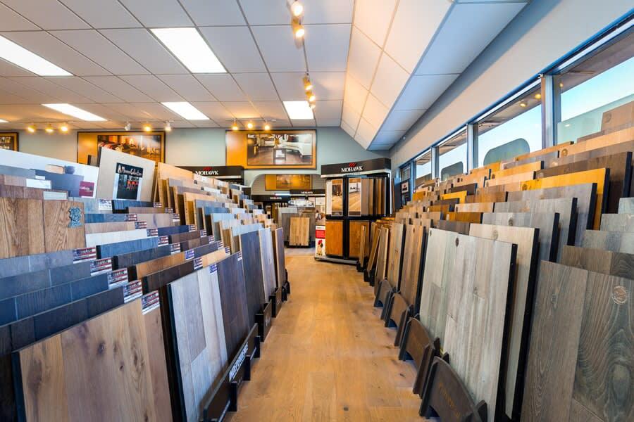 Luxury Vinyl Flooring that looks like wood in the La Jolla area at the showroom for America's Best Flooring