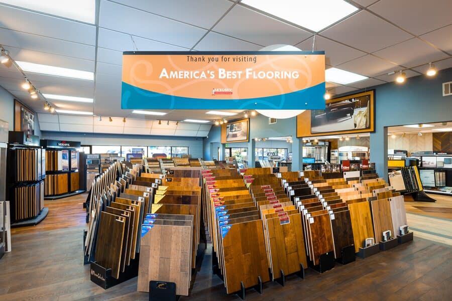 Visit America's Best Flooring in San Diego to see our large flooring selection