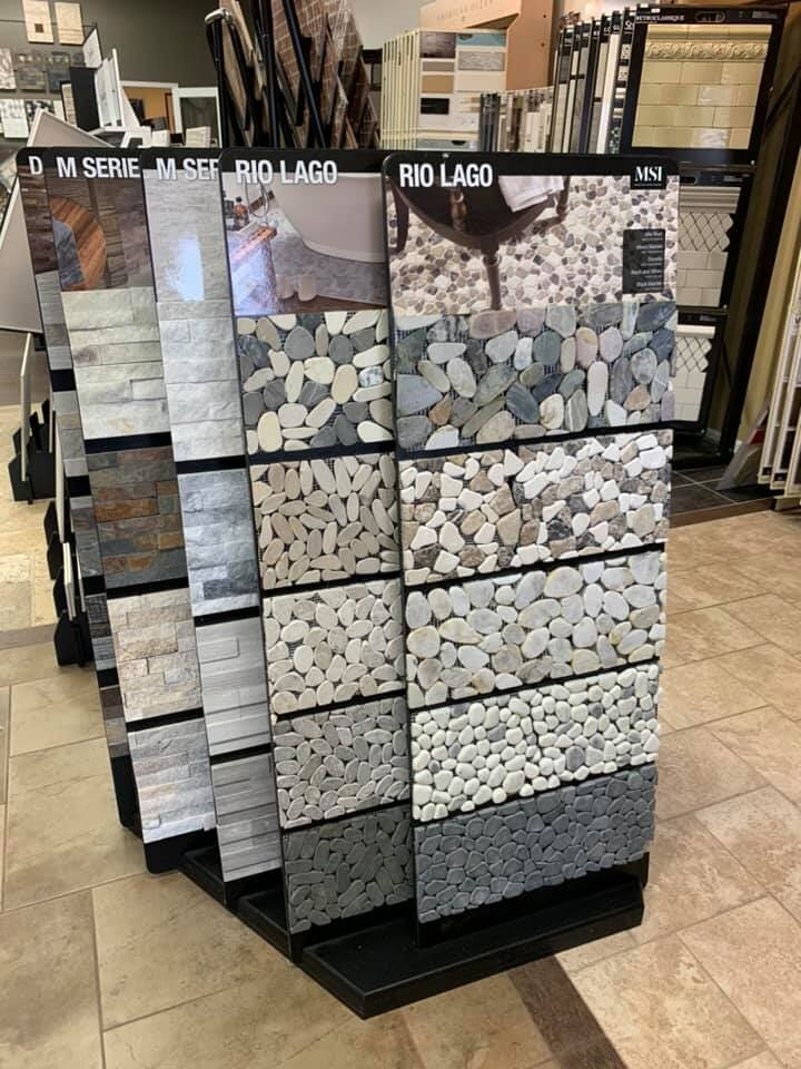Pebble tile flooring for your Spring Grove, IL home from Anderson Tile & Carpet