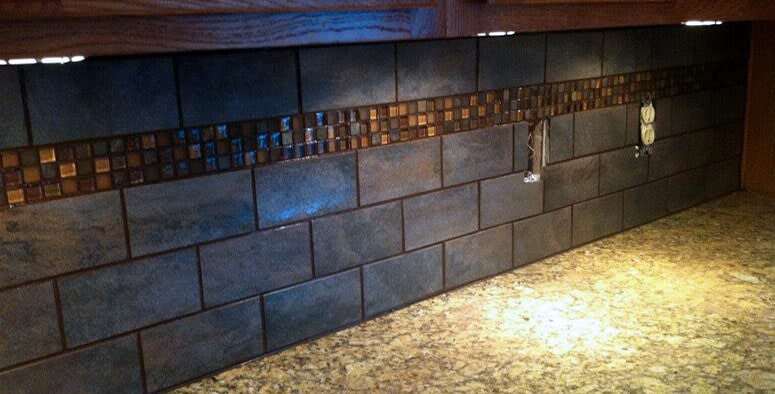Tile backsplash in North Carton OH from Barrington Carpet & Flooring Design