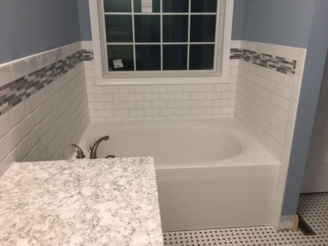 Bathroom rile in Uniontown OH from Barrington Carpet & Flooring Design