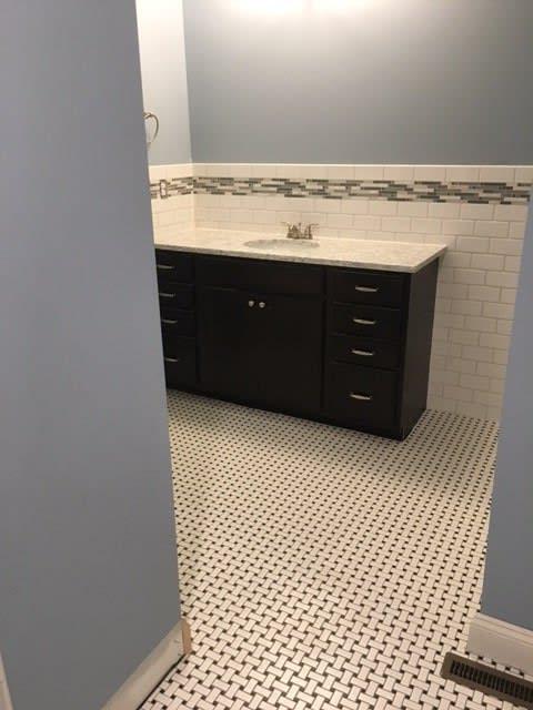 Custom tile in Hartville OH from Barrington Carpet & Flooring Design