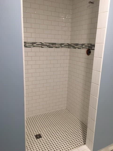 Bathroom shower tile in Akron OH from Barrington Carpet & Flooring Design