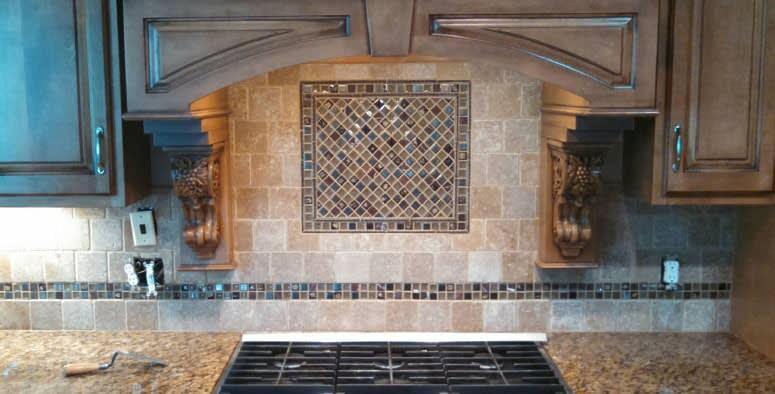 Tile backsplash in Hartville OH from Barrington Carpet & Flooring Design