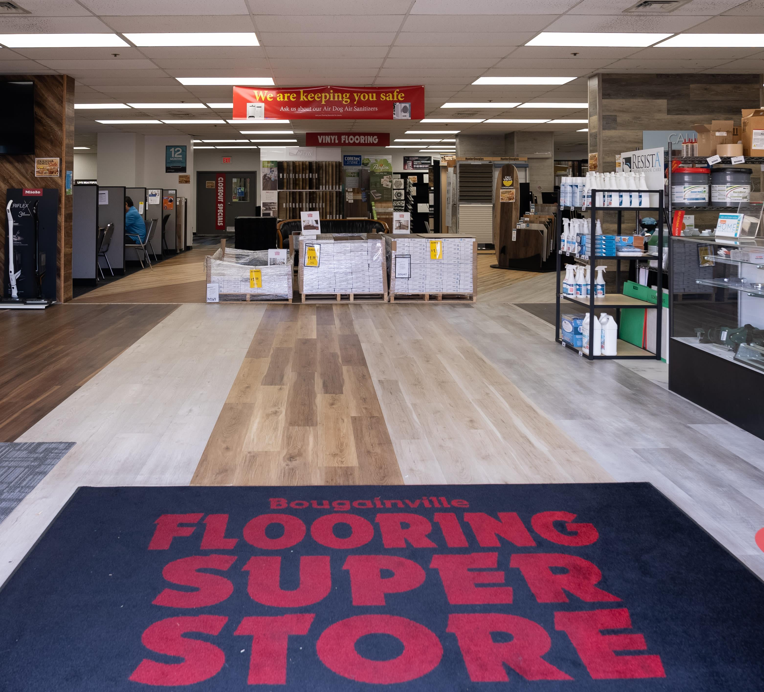 Bougainville Flooring Super Store showroom near Pearl City, HI