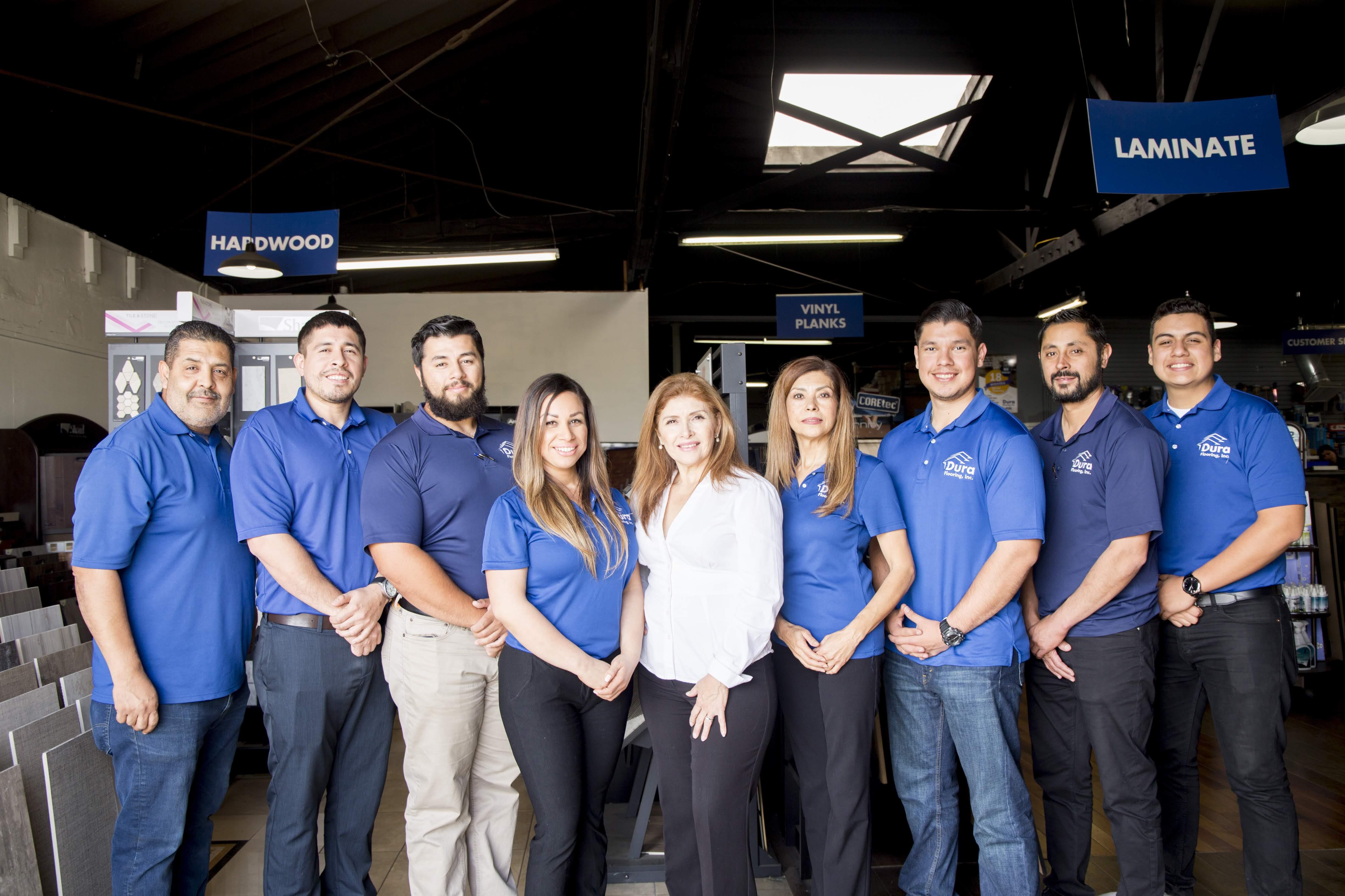 Flooring professionals at Dura Flooring, Inc. in Commerce, CA