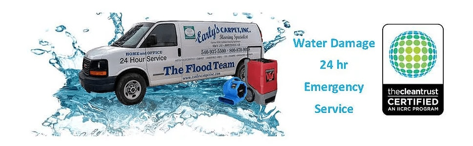 water damage repair van