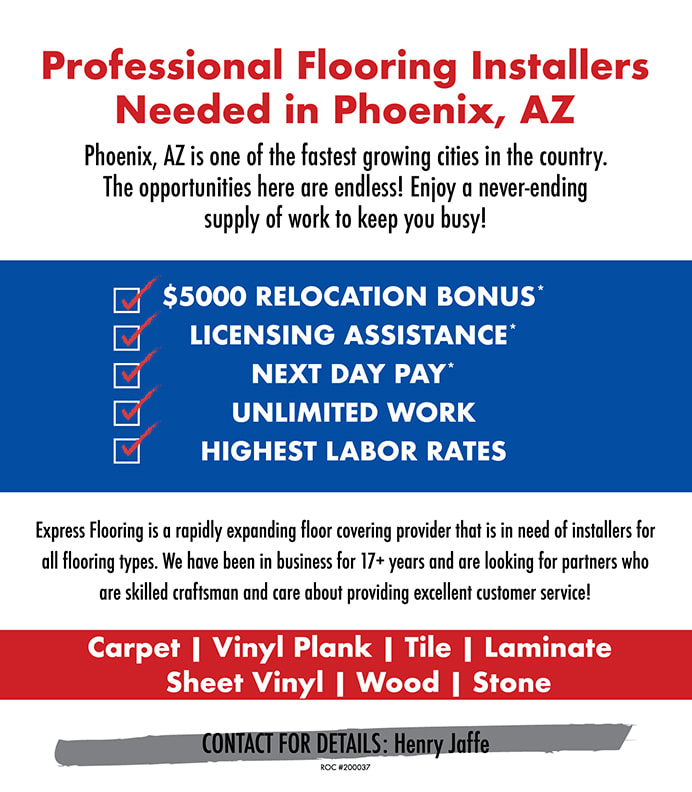 Professional flooring installers needed in Phoenix, AZ