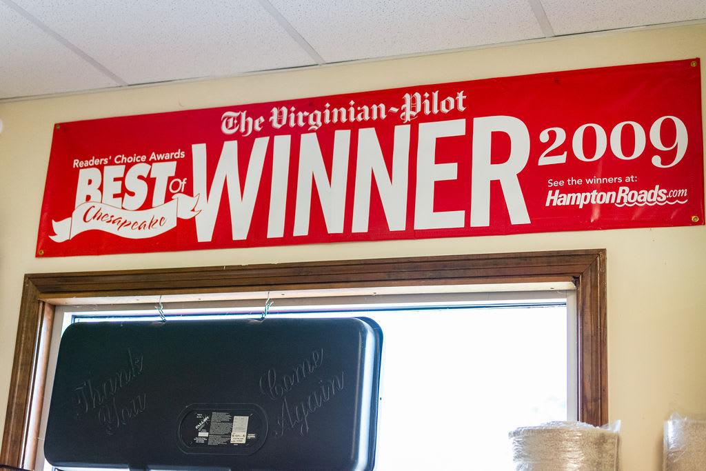 "8 Time Winner ""Best Of Chesapeake"" by The Virginian Pilot"