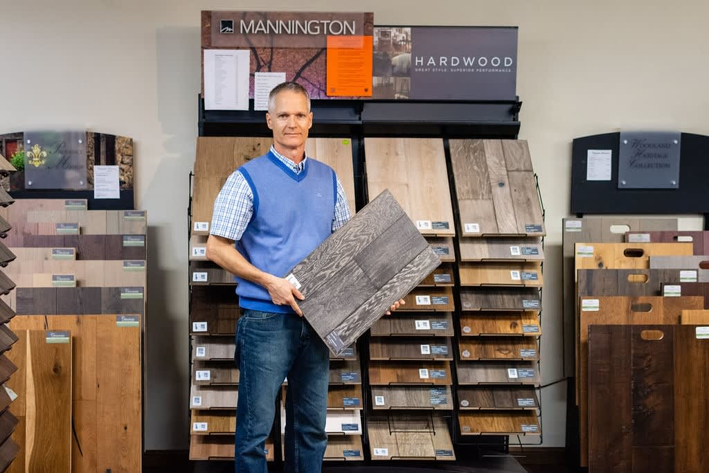 Phil Jr. of Floors Unlimited in Chesapeake, VA displaying a fine product