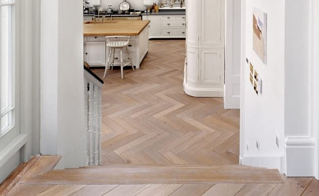 Legno Bastone wide plank flooring in Casey Key, FL from Floors and Walls of Distinction