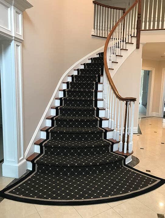 """""""Katz"""" Custom stair runner in Wyckoff, NJ from G. Fried Flooring & Design"""