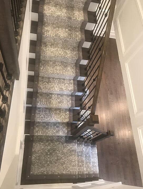 """""""Paramus Job"""" Custom stair runner in Franklin Lakes, NJ from G. Fried Flooring & Design"""