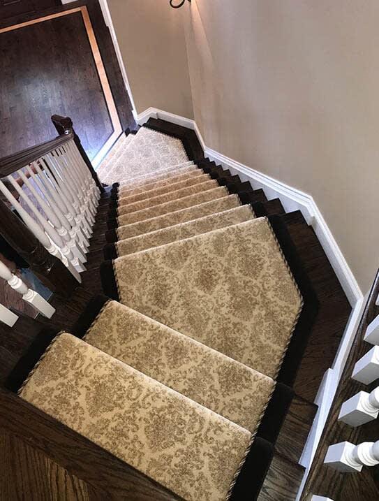 """Lorino"" Custom stair runner in Paramus, NJ from G. Fried Flooring & Design"