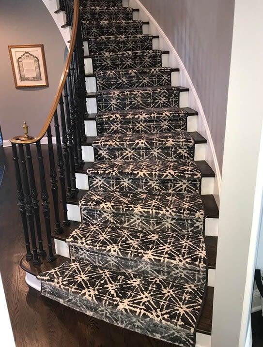 """Winick/Herman"" Custom stair runner in Mahwah, NJ from G. Fried Flooring & Design"