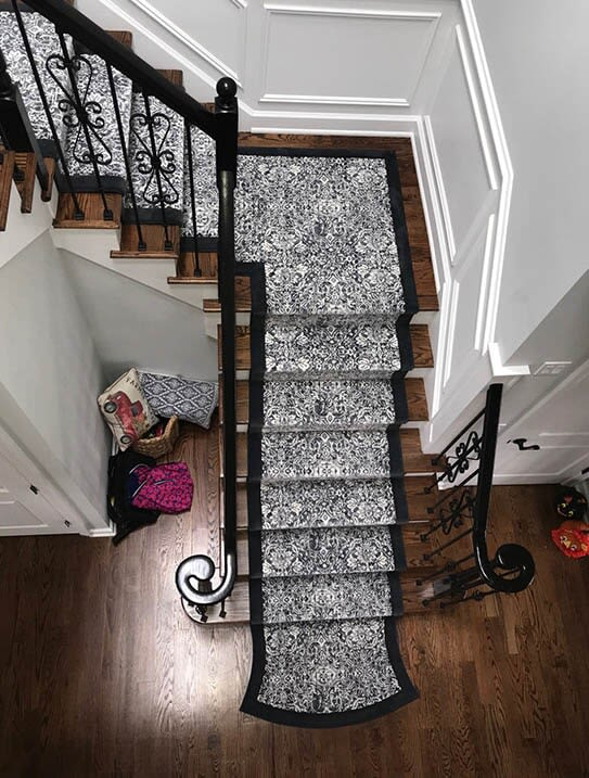 """Tewes"" Custom stair runner in Ridgewood, NJ from G. Fried Flooring & Design"