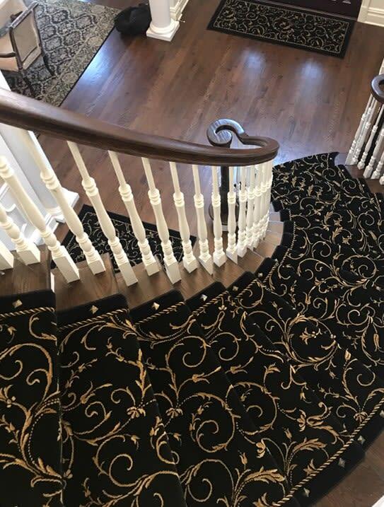 Custom stair runner in Paramus, NJ from G. Fried Flooring & Design