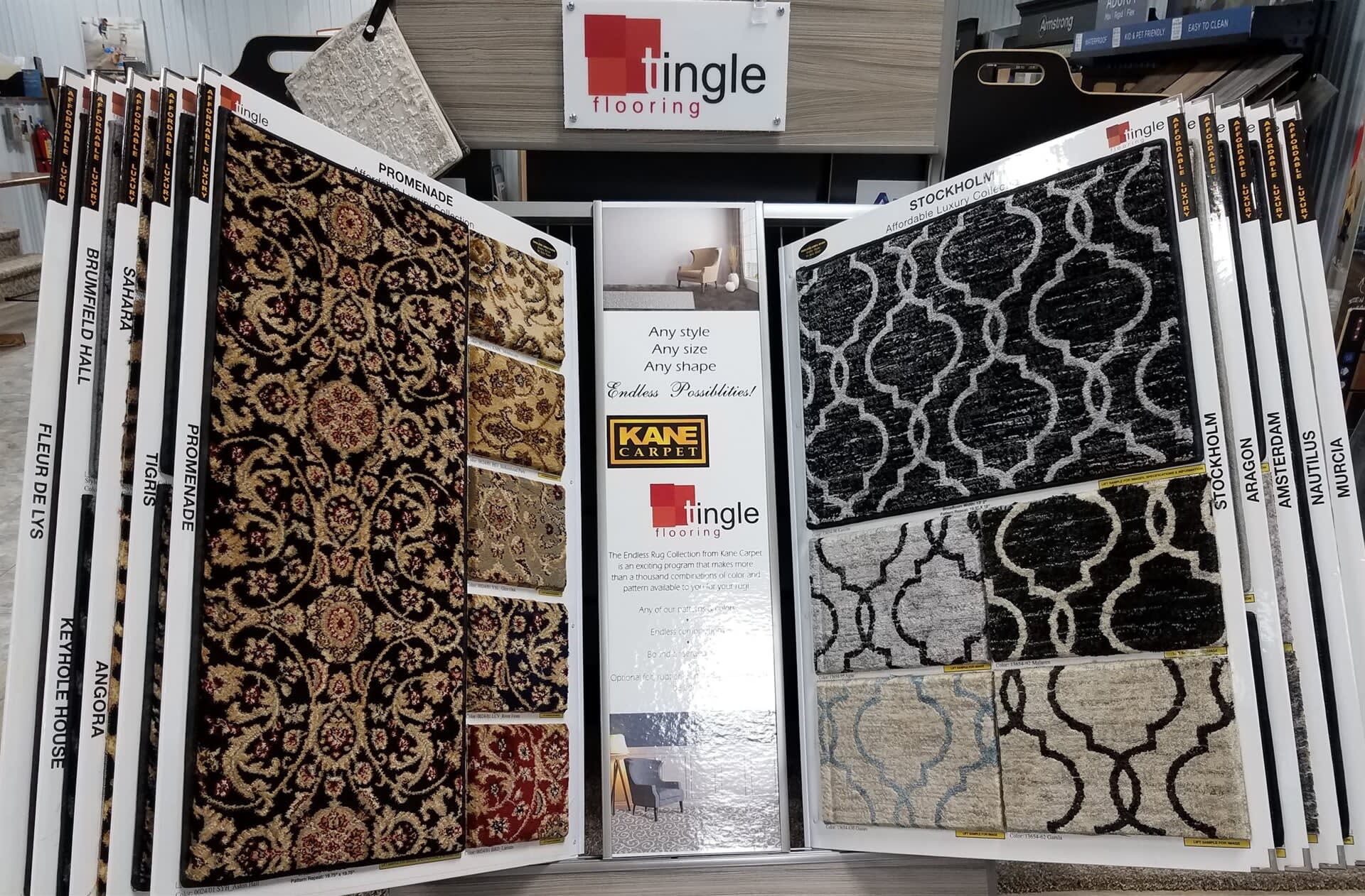 Taff's Carpets showroom in Excelsior Springs, MO
