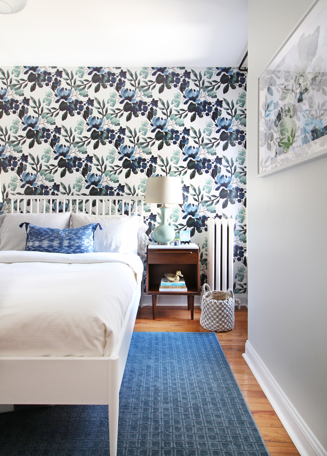 Rug placement in bedrooms