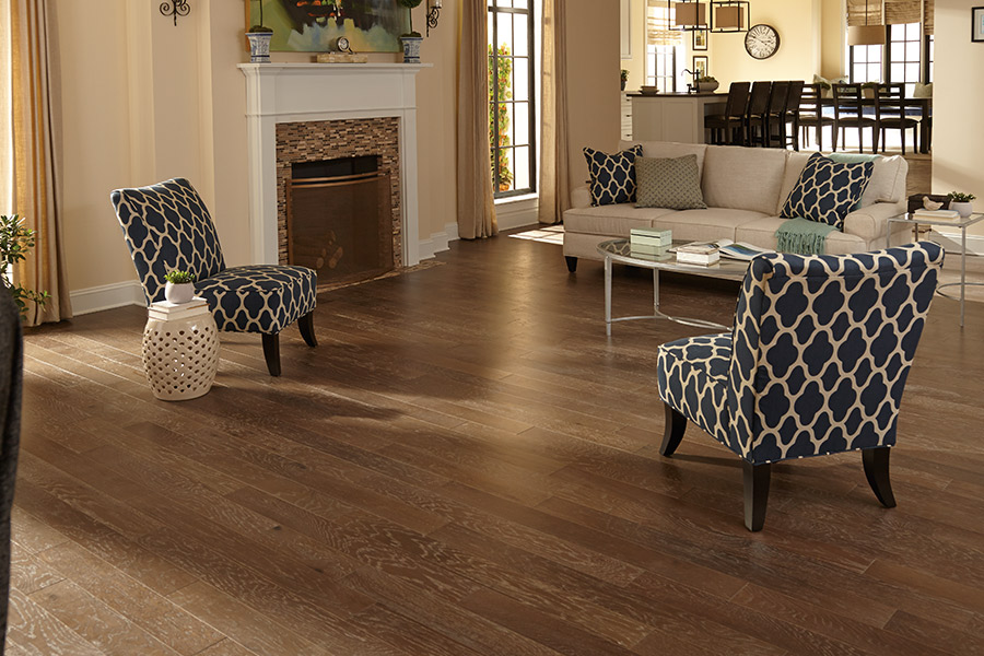 Hardwood floor installation in Eastvale, CA from Carpet Station