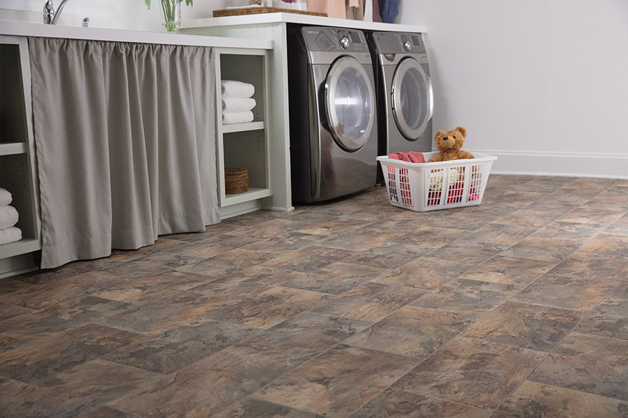 Luxury vinyl tile (LVT) flooring in