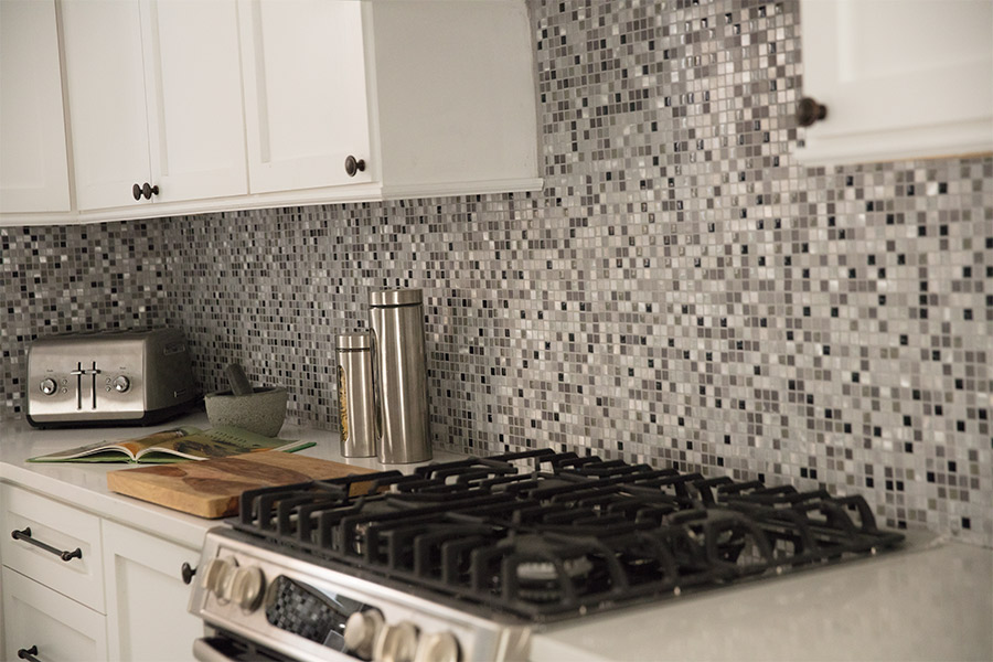 Custom tile backsplash in