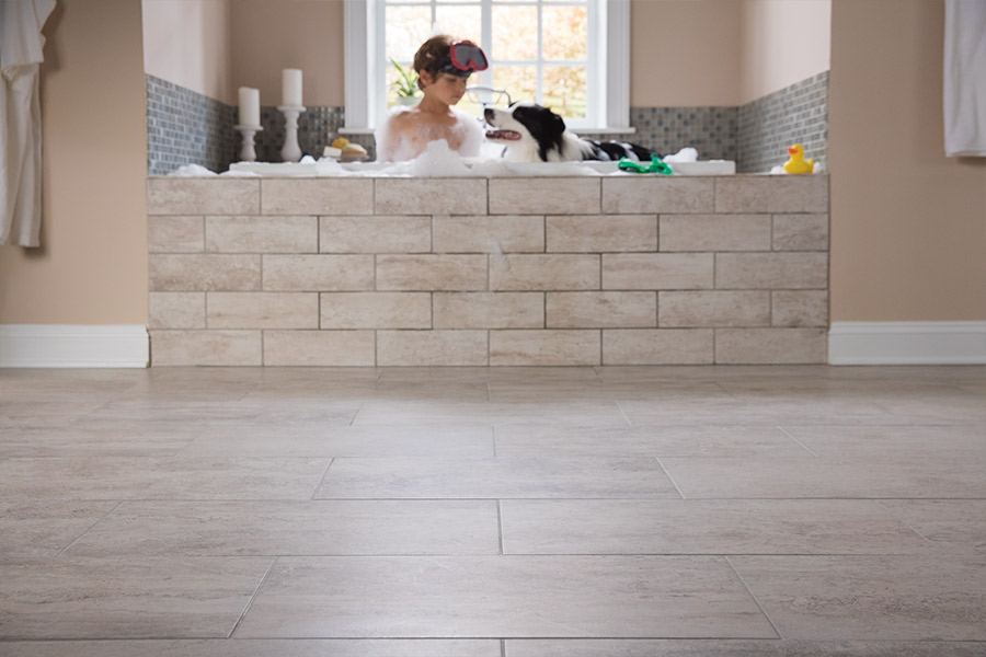 Custom tile bathrooms in Somerset NJ from Carpets & More
