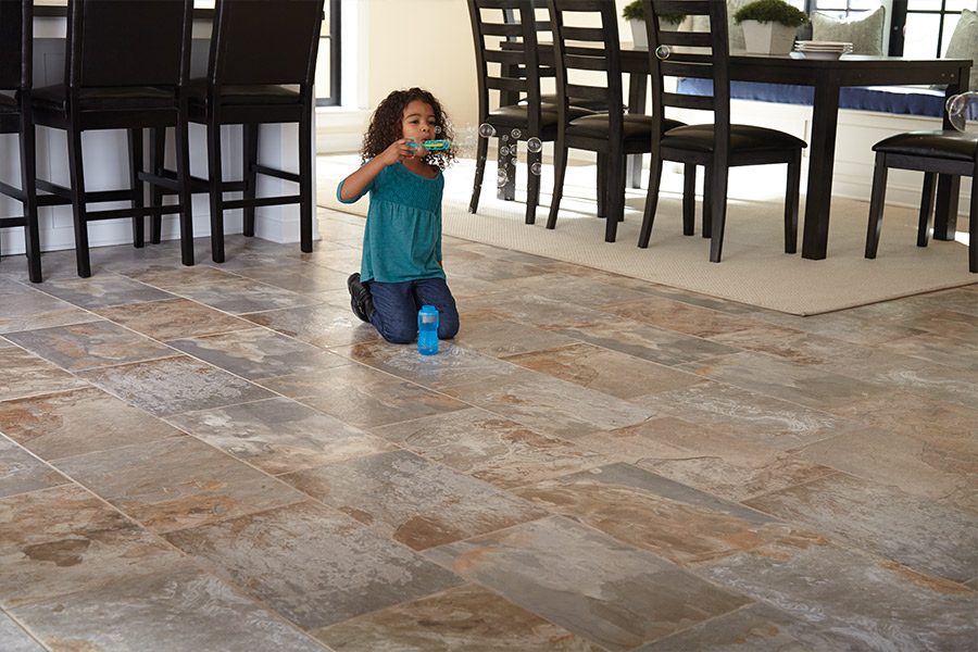 Family friendly tile flooring in Vergennes VT from Elegant Floors